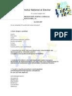 Documente necesare pentru inscrierea in Consiliul Elevilor