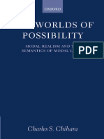 Charles S. Chihara the Worlds of Possibility Modal Realism and the Semantics of Modal Logic 2001