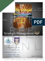 67673439 5574 Strategic Management Assignment No 01