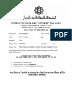 UNGS Exam Paper