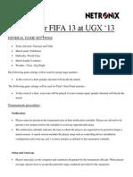 FIFA 13 Rules