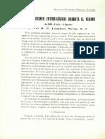 'Mis excursiones cientificas durante el verano de 1909' de Longinos Navás