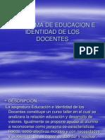 Programa de Educacion e Identidad de Los Docentes
