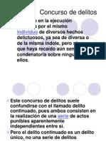 Diapositivas - Concurso de Delitos