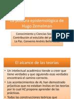 La postura epistemológica de Hugo Zemelman