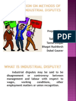 Irl w Methods of Settling Industrial Disputes
