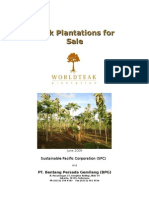 Teak Plantations for Sale