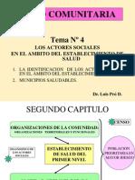 04- TEORIA SAL COM Dx Comunal Los Actores Sociales y Municipios Saludables 2012