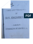 Civil Engg Hand Written Notes Sample