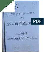 Civil Engg Hand Written Notes Sample
