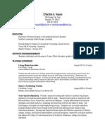 resume 2012 chayes shorten