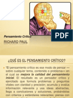 RICHARD PAUL- Pensamiento Crítico