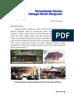 Pemanfaatan Bambu Sebagai Bahan Bangunan