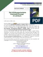 Studienbegleitender Deutschunterricht Handlungsorientiertes Grammatik-Konzept