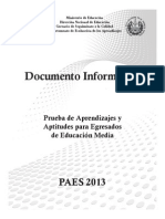 Documento Informativo Paes 2013