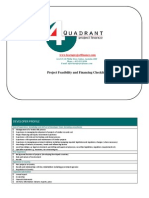 Project Feasibility and Financing Checklist