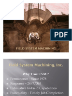 Power Plant Steam Path and Turbine Rebuild Field System Machining Capabilities
