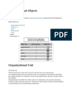 Organizational Objects