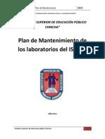Plan de Mantenimiento Laboratorios Isepch 2013 Oscar