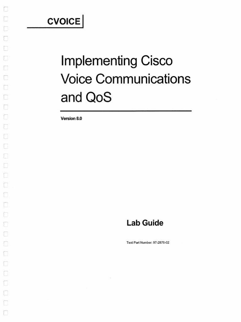Implementing.cisco.voice.communications.and.QOS.v8.Lab.guide.ocr | Ip  Address | Voice Over Ip