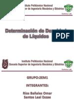 Practica quimica Determinación de Densidad de Líquidos