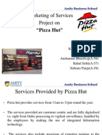 Marketing of services(Blueprinting & physical evidence of Pizza Hut)