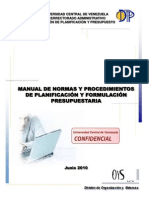 Manual de Planificacion y Formulacion Presupuestaria
