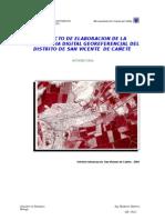PROYECTO DE ELABORACION DE LA CARTOGRAFIA DIGITAL GEOREFERENCIAL DEL  DISTRITO DE SAN VICENTE  DE CAÑETE