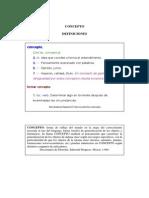 CONCEPTO-SIGNIFICADO-DEFINICION