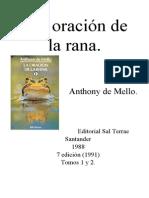 La Oracin de La Rana Anthony de Mello