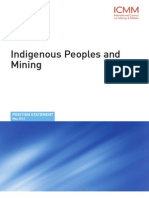 ICMM Indigenous Peoples and Mining Position Statement