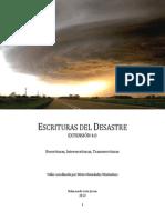 ESCRITURAS DEL DESASTRE Extensión 4.0  (fanzine)