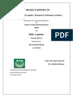 Understanding of Logistics- Inbound & Outbound Activities