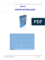 eBook Fundamento Da Educacao