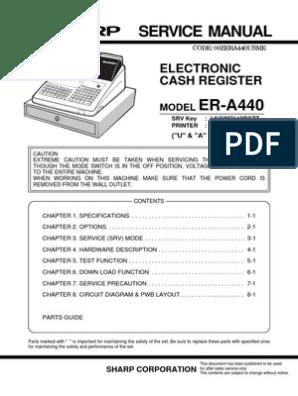 Sharp ER-A440 pdf | Random Access Memory | Computer Keyboard