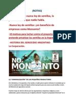 Monsanto y la nueva ley de semillas(NOTAS)