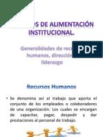 1.2 Generalidades de recursos humanos, dirección y liderazgo