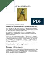 AÇOS PARA A CUTELARIA - TIPOS DE AÇO