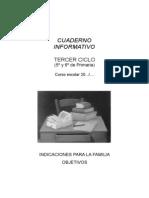 REUNIÓN DE AULA - TERCER CICLO PRIMARIA - OBJETIVOS APRENDIZAJE BÁSICOS