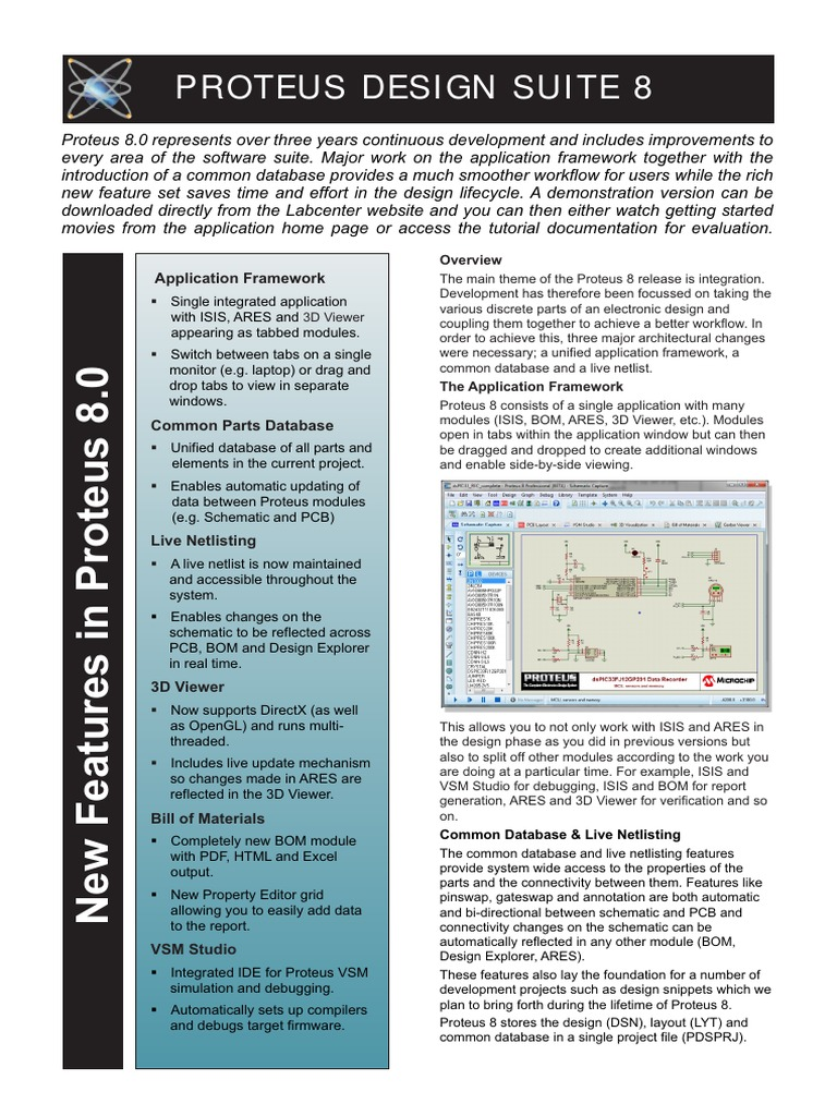 Proteus 8 Flyer Tab Gui Integrated Development Environment Circuit Simulation Software Free