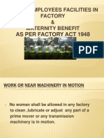 Women Factory Employees Facilities as Per Factory Act