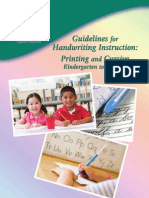 Guidelines for Handwriting Instruction - P.E.I