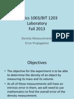 Phys1003 F2013 Lab Density