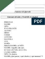 Entremes Del Nino y Peralvillo de Madrid - Quevedo