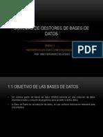 Sistemas de Gestores de Bases de Datos