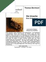 Bernhard, Thomas - Die Ursache - Eine Andeutung