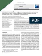 Simultaneous Determination of Butylated Hydroxyanisole (BHA) and Butylated
