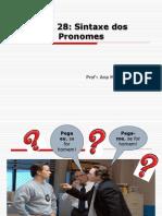 Sintaxe Dos Pronomes