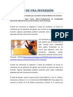 614036REGISTRO DE UNA INVERSIÓN