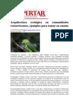 Arquitectura ecológica en comunidades costarricenses